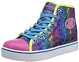 Heelys Damen Veloz Hohe Sneaker, Mehrfarbig Denim/Glitter/Rainbow,...