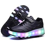 Recollect Kinder LED Schuhe mit Rollen Drucktaste Einstellbare...