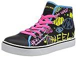 Heelys Damen Veloz Hohe Sneaker, Schwarz (Black/Rainbow/Scribble...