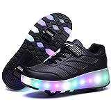 Nonbrand Junge Mädchen Schuhe Kinderschuhe mit Rollen LED Leuchtend...