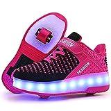 Junge Mädchen Schuhe Kinderschuhe mit Rollen LED Leuchtend Heelys...