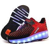 Unisex Kinder LED Licht USB Wiederaufladbar Skateboardschuhe mit...