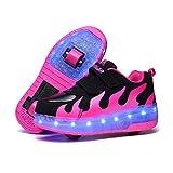 Axcer LED Blinkend Schuhe Mit Rollen Automatisch Einziehbar Komfort...