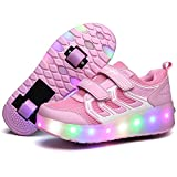 Lovelysi Unisex Kinder LED Licht Schuhe USB Wiederaufladbar...