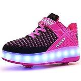Unisex Kinder Jungen Mädchen LED Rollschuh Schuhe mit USB Aufladen...