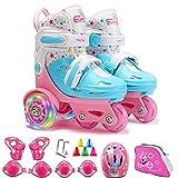 YUANYI Rollschuhe Roller Skates Kinder Zweireihig Einstellbare Größe...