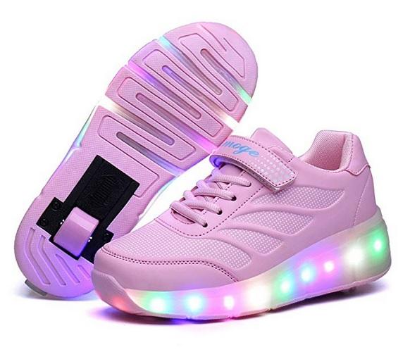 Schuhe mit Rollen und Led Kinder Mädchen